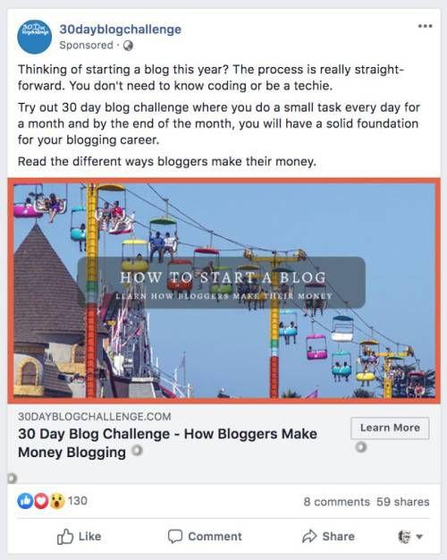 facebook ad ideas
