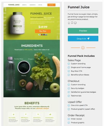 landing page examples ecommerce template