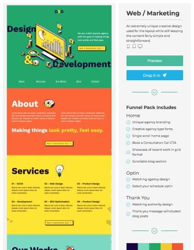 landing page example web agency template