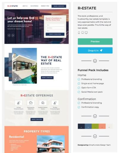 landing page examples real estate
