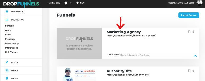 dropfunnels sales funnel