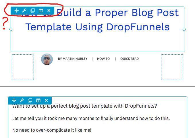 blog post template builder